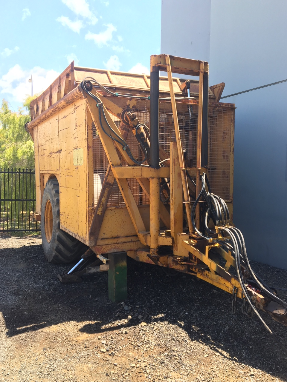 2 X Toft High Lift 7 Tonne Side Tipping Cane Trailers